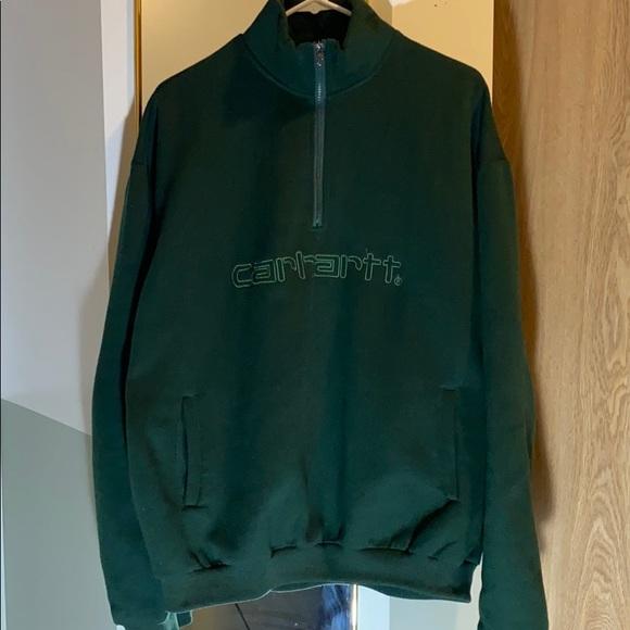Vintage Carhartt quarter zip - emerald green